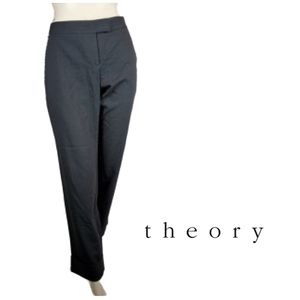 THEORY Subtle Striped Cuffed Ankle Length  Pants